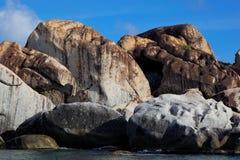 Baden Virgin Gorda, brittisk jungfrulig ö (BVI) som är karibisk Fotografering för Bildbyråer