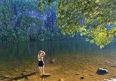 Baden von Schönheit auf Kapellen-Teich Lizenzfreies Stockfoto