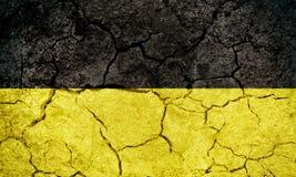 Baden-WÃ ¼ rttemberg, stan Niemcy, flaga Zdjęcie Royalty Free