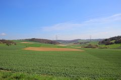 Baden-Württemberg landscape, Germany. Baden-Württemberg is in the southwestern part of Germany to the east of the Upper Rhine and is home to the famous nearby Royalty Free Stock Photos