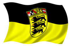 Baden Wuerttemberg Flag Stock Photography