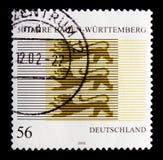 Baden-Wurttemburg状态, serie第50周年,大约2002年 图库摄影