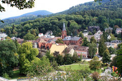 Badenweiler in Germany. Badenweiler, spa town in Black Forest Stock Image