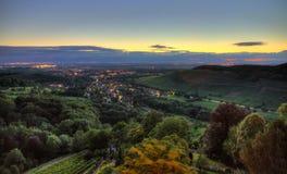 Badenweiler sundown Stock Image