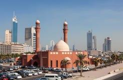 Bader Al Mailam Mosque en la ciudad de Kuwait Imagen de archivo libre de regalías