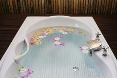 badet badar Fotografering för Bildbyråer