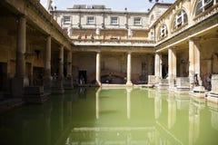 badet badar roman england Royaltyfri Bild