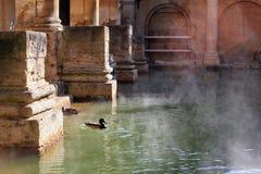 badet badar roman england Royaltyfria Bilder