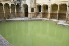 badet badar roman england arkivfoton