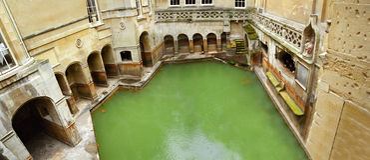 badet badar roman england Royaltyfri Fotografi