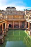 badet badar roman england fotografering för bildbyråer