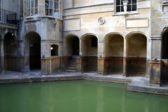 badet badar roman england Arkivfoto