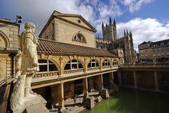 badet badar staden roman uk royaltyfri foto