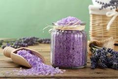 badet blommar salt ny lavendel Royaltyfri Bild