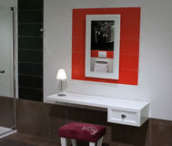 badet dekorerar interioren Arkivfoton