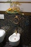 badet dekorerar interioren Royaltyfria Bilder