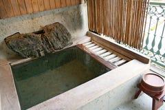 badet onsen arkivfoto