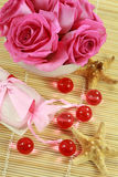 badet pryder med pärlor tvålwellness Royaltyfri Bild