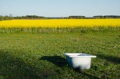 Badewanne als Wasserbehälter Lizenzfreie Stockbilder