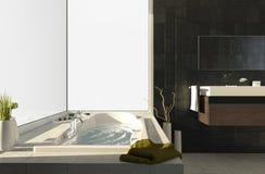 Badewanne mit Ansichten 2 Stockbilder