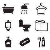 Badezimmer-Ikonen Stockbild