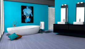 Badezimmer-Innenarchitektur Stockfotos