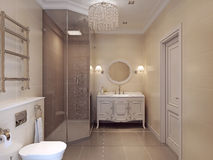Badezimmer in klassischem style Stockfotografie