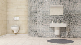 Badezimmer mit Handbecken stockbilder