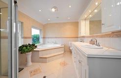 Badezimmer mit Sauna Stockbild