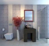 Badezimmer mit WC lizenzfreie abbildung