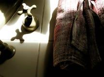 Badezimmer-Nachrichten Stockfoto