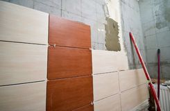 Badezimmer Tiling Stockfotos