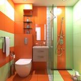 Badezimmer-WC-Szene stock abbildung