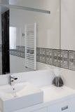 Badezimmeransicht Stockfotografie