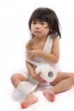 Badezimmergewebekleidung stockfoto