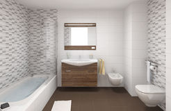 Badezimmerinnenraum lizenzfreie abbildung