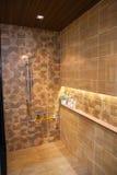 Badezimmerinnenraum mit Duschinnenraum Lizenzfreie Stockfotografie