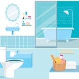 Badezimmerinnenraum und -möbel nach innen Lizenzfreies Stockbild