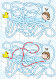 Badezimmerlabyrinth Vektor Abbildung