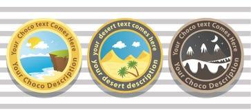badge ландшафт Стоковая Фотография RF