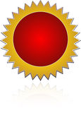 Badge. Colorful badge in white background Royalty Free Stock Photography