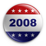 Badge - 2008 election. 3d rendering of a badge for the 2008 presidential election Royalty Free Stock Photo