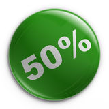 Badge - 50% Royalty Free Stock Photos