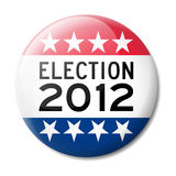 Badge for American election 2012 Royalty Free Stock Image