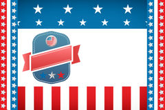 Badge on American flag. Digitally generated image of badge on American flag Stock Photography