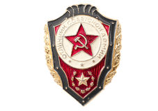Badge of army ussr. On the isolated background Stock Image