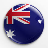 Badge - Australian flag. 3d rendering of a badge with the Australian flag Stock Photography