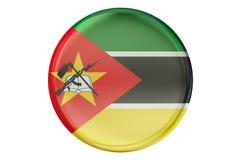 Badge avec le drapeau de la Mozambique, le rendu 3D Image libre de droits