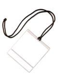 Badge avec une place blanche d'une copie Photographie stock libre de droits