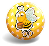 Badge and bee Royalty Free Stock Photos